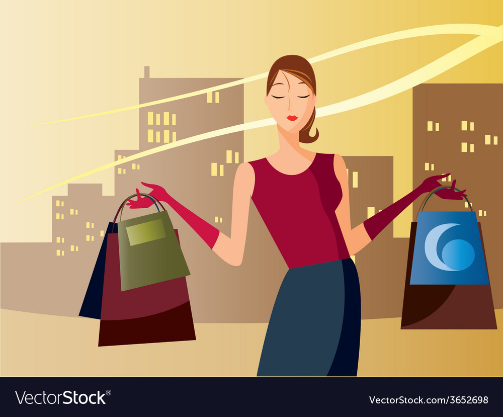 Shoppingintheafternoon vector