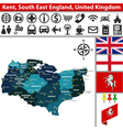 Kent South East England vector image vector image