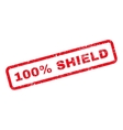 100 Percent Shield Text Rubber Stamp vector image