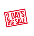 2 days big sale rubber stamp vector image