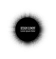 pop art halftone logo circle design vector image