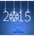 New Year greeting with snowflakes vector image