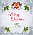 Christmas secession frame vector image vector image