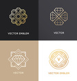 abstract logo design templates in golden colors vector image vector image
