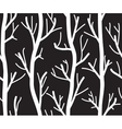 Seamless black and white background with trees vector image