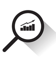 magnifying glass with Graph icon vector image
