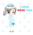 anime nurse vector image