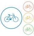 bicycle - bike icon vector image