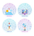 business concepts set 2 vector image
