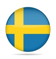 button with flag of Sweden vector image
