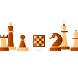Chess debut tournament event chess club strategy vector image