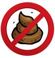 No prohibiting shit sign vector image