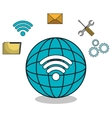planet globe browser settings icons vector image