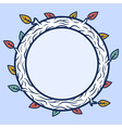 Round wooden frame vector image