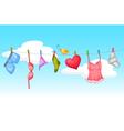 Sexy laundry vector image