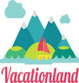 Vacation Land vector image