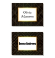 Floral geometric card black and golden vector image vector image