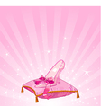 Cinderellas glass slipper vector image