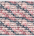 Seamless pattern with flowers on striped vector image vector image