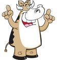 Cartoon cow with an idea vector image