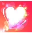 hearts speech bubble background vector image vector image