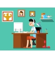 Freelancer at work vector image vector image
