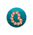 Hawaii flowers necklace wreath icon Vacation vector image
