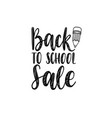back to school sale handwritten with vector image