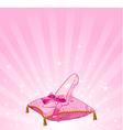 Cinderellas glass slipper vector image