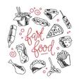 Fast food menu background vector image