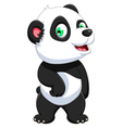 funny panda cartoon for you design vector image