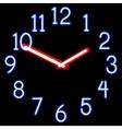 Neon clocks vector image