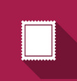 postal stamp icon isolated with long shadow vector image