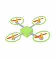 Quadcopter icon in cartoon style vector image