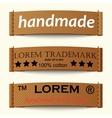 Set of textile labels vector image
