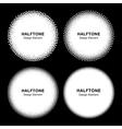 Set of WhiteHalftone Dots Circles vector image