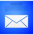 Envelope flat icon on blue background Adobe vector image