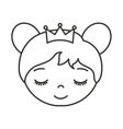 cute princess character icon vector image