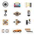 Parts of the car engine vector image