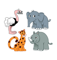 African animals set two vector image vector image