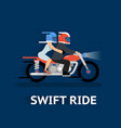 Cartooned Swift Ride Concept Design vector image