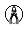 Pliers icon for use in reparation carpentry vector image