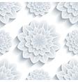 Seamless pattern grey with 3d flower chrysanthemum vector image