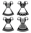 Dirndl - traditional dress worn in Germany vector image vector image