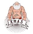 Santa with tattoos vector image