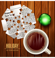 Christmas background with snowflake cut from newsp vector image vector image