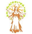 Panacea - ancient greek goddess vector