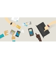 payment option top desk mobile NFC rfid credit vector image