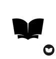 Book open simple black silhouette icon vector image