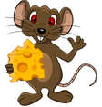 funny mouse cartoon vector image vector image